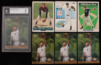 Lot of (7) Derek Jeter Baseball Cards with (1) 1993 Upper Deck #449 (BGS 8), (3) 1993 Upper Deck #449, 1992 Classic Draft Picks #6, 1993 Score #489 RC, & 1993 Topps #98 RC at PristineAuction.com