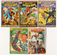 "Lot of (5) 1971-1972 ""The Amazing Spider-Man"" 1st Series Marvel Comic Books at PristineAuction.com"
