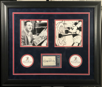 Walt Disney Signed 19x23 Custom Framed Cut (BGS Encapsulated) at PristineAuction.com