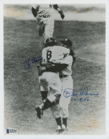"Yogi Berra & Don Larsen Signed New York Yankees 8x10 Photo Inscribed ""10-8-66"" (Beckett COA) at PristineAuction.com"