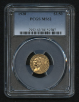 1928 $2.50 Indian Head Quarter Eagle Gold Coin (PCGS MS62) at PristineAuction.com