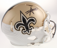 Alvin Kamara Signed New Orleans Saints Full-Size Authentic On-Field Hydro Dipped Speed Helmet (JSA COA) at PristineAuction.com