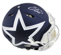Emmitt Smith Signed Cowboys Full-Size Authentic On-Field AMP Alternate Speed Helmet (Prova COA) at PristineAuction.com