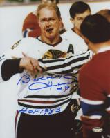 "Bobby Hull Signed Chicago Blackhawks 8x10 Photo Inscribed ""HOF 1983"" (Schwartz COA) at PristineAuction.com"