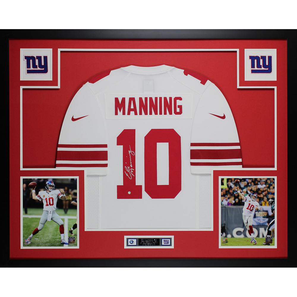 Eli Manning Signed 35x43 Custom Framed