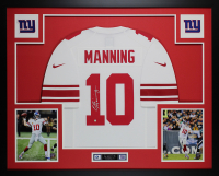 Eli Manning Signed 35x43 Custom Framed Jersey Display (Steiner COA) at PristineAuction.com