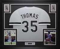 Frank Thomas Signed 32x37 Custom Framed Jersey (Leaf COA) at PristineAuction.com