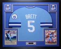 George Brett Signed 35x43 Custom Framed Jersey (Beckett COA) at PristineAuction.com