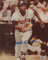 Hank Aaron Signed Milwaukee Braves 8x10 Photo (Beckett COA) at PristineAuction.com