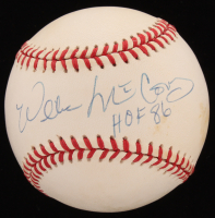 "Willie McCovey Signed ONL Baseball Inscribed ""HOF 86"" (Beckett COA) at PristineAuction.com"