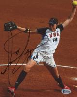 "Monica Abbott Signed Team USA 8x10 Photo Inscribed ""USA"" (Beckett COA) at PristineAuction.com"