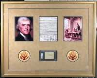 Thomas Jefferson Signed 33x41 Custom Framed Cut (PSA Encapsulated) at PristineAuction.com