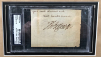 Thomas Jefferson Signed 33x41 Custom Framed Cut (PSA Encapsulated) at PristineAuction.com
