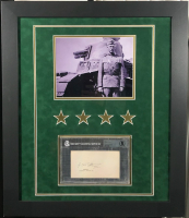 George S. Patton Signed 23x27 Custom Framed Cut Display (BGS Encapsulated) at PristineAuction.com
