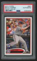 2012 Topps #661C Bryce Harper / Front Leg Up / Factory Set (PSA Authentic) at PristineAuction.com