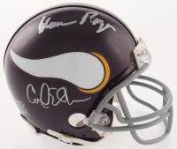 "Minnesota Vikings ""Purple People Eaters"" Mini Helmet Signed by (4) with Carl Eller, Jim Marshall, Gary Larsen & Alan Page (Beckett COA & TSE Hologram) at PristineAuction.com"