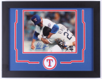 Nolan Ryan Signed Texas Rangers 14x18 Custom Framed Photo Display (AIV COA & Ryan Hologram) at PristineAuction.com