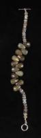 "Silver Multi Cut Labradorite Toggle 7.5"" Bracelet at PristineAuction.com"