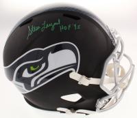 "Steve Largent Signed Seattle Seahawks Flat Matte Black Full-Size Speed Helmet Inscribed ""HOF 95"" (Schwartz COA) at PristineAuction.com"