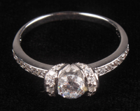 Silver Sterling Simulated Diamond Ring at PristineAuction.com