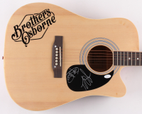 "John Osborne & T.J. Osborne Signed Brothers Osborne 38"" Acoustic Guitar  (JSA COA) at PristineAuction.com"