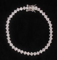 "Sterling Silver Tennis 7.25"" Bracelet at PristineAuction.com"