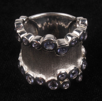 Sterling Silver Iolite Satin Finish Ring at PristineAuction.com