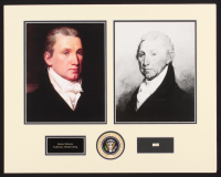 James Monroe 16x20 Custom Matted Cut Display with (1) Hand-Written Word from Letter (Beckett LOA Copy) at PristineAuction.com