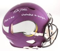 """Adam Thielen Signed Minnesota Vikings Full-Size Authentic On-Field Speed Helmet Inscribed """"Made in MN"""" & """"Undrafted to Unstoppable"""" (TSE COA) at PristineAuction.com"""