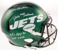 "Curtis Martin Signed New York Jets Full-Size Speed Helmet Inscribed ""Jets #28 Retired"", ""NFL ROY '95"" & ""HOF 2012"" (Beckett COA) at PristineAuction.com"