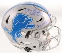 """Barry Sanders Signed Detroit Lions Full-Size Authentic On-Field SpeedFlex Helmet Inscribed """"The Lion King"""" & """"HOF 04"""" (Schwartz COA) at PristineAuction.com"""