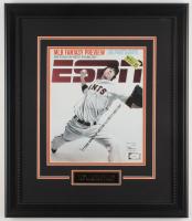 Tim Lincecum Signed San Francisco Giants 18x21 Custom Framed Magazine Display (JSA Hologram) at PristineAuction.com