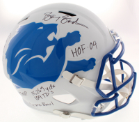 Barry Sanders Signed Detroit Lions Full-Size AMP Alternate Speed Helmet with (7) Inscriptions (Schwartz COA) at PristineAuction.com