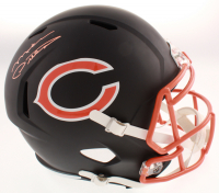 MIke Ditka Signed Chicago Bears Flat Matte Black Full-Size Speed Helmet (Schwartz COA) at PristineAuction.com