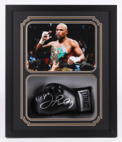 Floyd Mayweather Jr. Signed 22x26x5 Custom Framed Boxing Glove Shadow Box Display (JSA COA) at PristineAuction.com