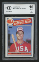 1985 Topps #401 Mark McGwire OLY RC (BCCG 10) at PristineAuction.com
