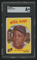 1959 Topps #50 Willie Mays (SGC Authentic) at PristineAuction.com