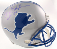 "Barry Sanders Signed Detroit Lions Full-Size Helmet Inscribed ""HOF 04"" (Schwartz COA) at PristineAuction.com"