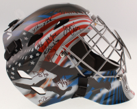 "Team USA ""Miracle on Ice"" Full-Size Hockey Goalie Mask Signed by (17) with Jim Craig, Mike Eruzione, Ken Morrow (Schwartz COA) at PristineAuction.com"