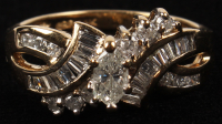 14Kt. Yellow Gold Ladies Marquise Cut .75 CT Diamond Ring at PristineAuction.com