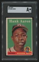1958 Topps #30A Hank Aaron (SGC Authentic) at PristineAuction.com