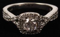 14Kt. White Gold Ladies Round Brilliant .67 CT Diamond Engagement Ring (UGL Appraisal) at PristineAuction.com