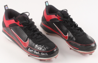 """Todd Frazier Signed Pair (2) of Game-Used Nike Baseball Cleats Inscribed """"Game Used 2012"""" (Hollywood Collectibles COA) at PristineAuction.com"""