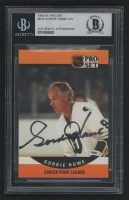 Gordie Howe Signed 1990-91 Pro Set #654 (BGS Encapsulated) at PristineAuction.com