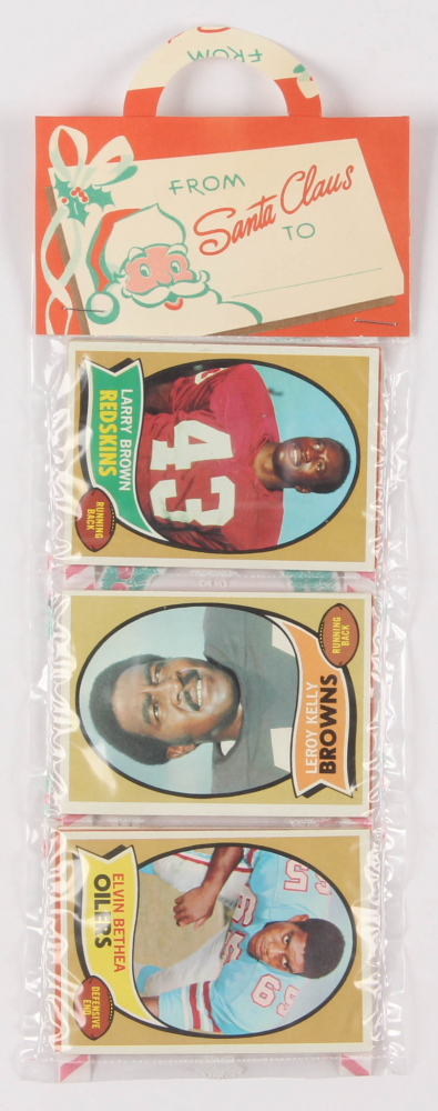 1970 Topps Football Unopened Christmas Rack Pack with (12) Cards at PristineAuction.com