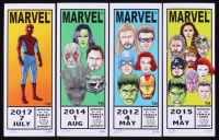 "Set of (4) Limited Edition Marvel Comic ""Corner Box"" Mini Prints Signed by Tom Hodges (PA COA) at PristineAuction.com"