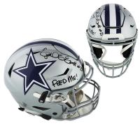 "Ezekiel Elliott Signed Dallas Cowboys Full-Size Authentic On-Field SpeedFlex Helmet Inscribed ""Feed Me!"" (Radtke COA) at PristineAuction.com"