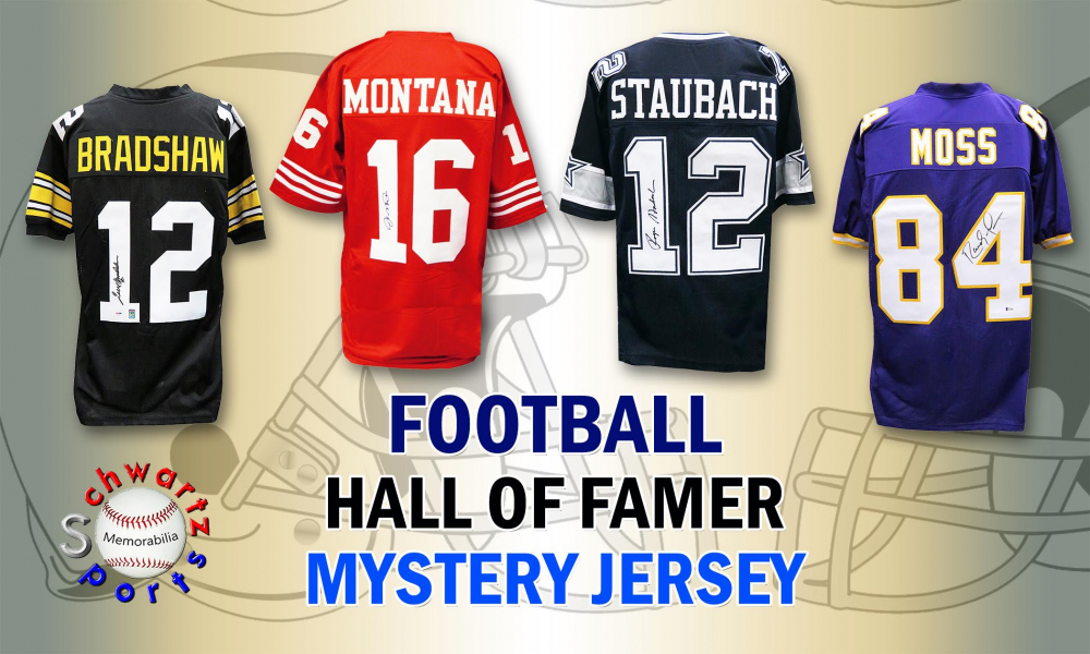 Schwartz Sports Football Hall of Famer Signed Mystery Box Football Jersey Series 5 (Limited to 100) at PristineAuction.com
