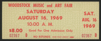 Woodstock Authentic Unused One-Day Ticket from August 16, 1969 at PristineAuction.com