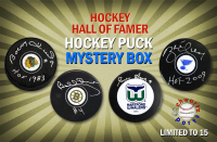 Schwartz Sports Featured Seller Hockey Hall of Famer Signed Hockey Puck Mystery Box – (Limited to 15) at PristineAuction.com